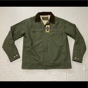 Woolrich Men's Olive Canvas Sherpa Jacket
